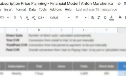 Планировщик цены подписок для мобильных приложений — от Антона Марченко, VP of Marketing в Apalon